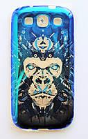 Чехол на Самсунг Galaxy S3 i9300 приятный Силикон Глянцевый Обезьяна, фото 1