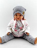 Трикотажная шапка двойная детская 52-56р