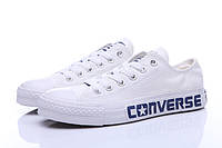Кеды Converse All Star Chuck Taylor II белые с синей надписью, Белый, 37