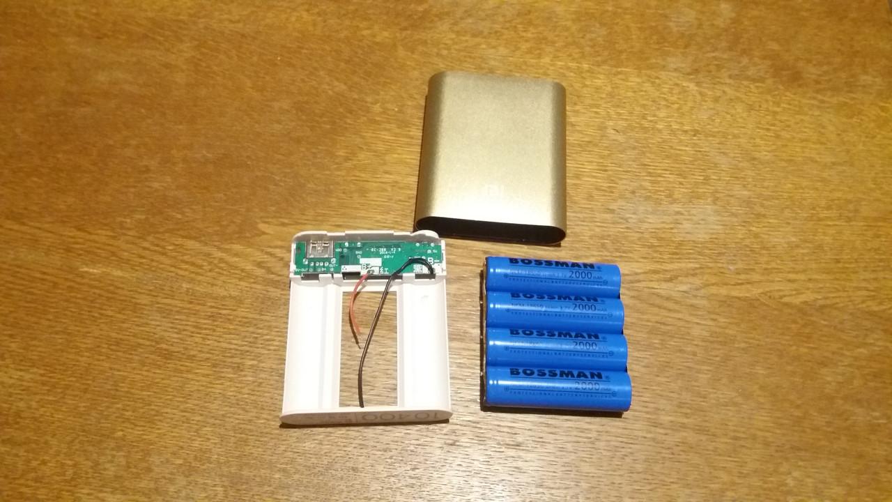 Power Bank 10400 Конструктор в сборе (8000mA Реальная емкость аккумуляторов)