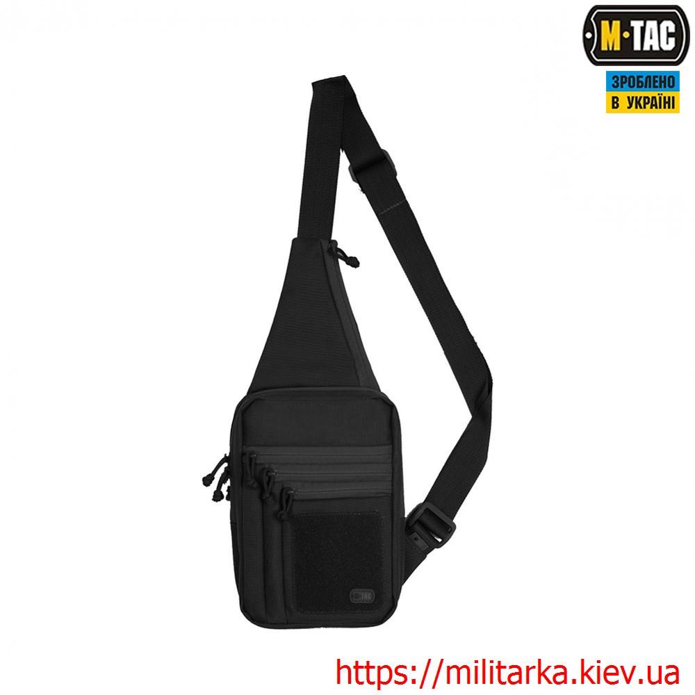 M-Tac сумка-кобура наплечная Elite с липучкой Black