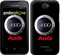 "Чехол на Lenovo A66 Audi. Logo v2 ""3105u-290"""