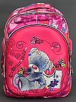 Школьный рюкзак ортопедический Мишка для девочки Портфель ранец каркасный 1, 2, 3 класс