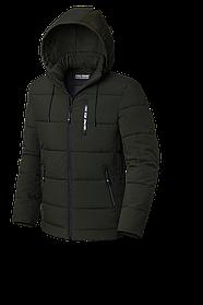 Мужская темно-зеленая зимняя куртка (р. 48-56) арт. 8808М