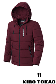 Мужская бордовая зимняя куртка (р. 48-56) арт. 8808С