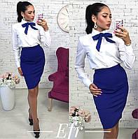 Женский костюм рубашка+юбка с галстуком 105.2 ЕФ
