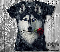 Женская футболка-варёнка KRASAR-ХАСКИ