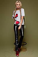Женский серый свитшот Мотикс Jadone Fashion 42-48 размеры