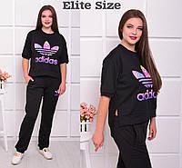 Женский спортивный костюм в больших расцветках e-ta61566