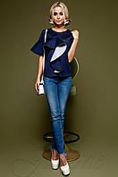Женский темно-синий свитшот Мотикс Jadone Fashion 42-48 размеры