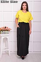Двухцветное платье в пол (р.48+) в расцветках y-ta61567