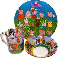 """Мультяшные наборы детской посуды """"Любимые мультфильмы"""""""