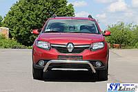 Защита переднего бампера (кенгурятник)  Renault Sandero Stapway (13+)
