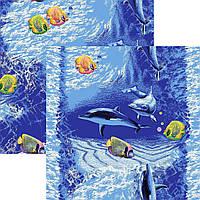 Детский ковролин-дорожка  Дельфины 1,5м