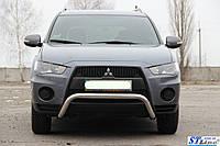 Защита переднего бампера (кенгурятник)  Mitsubishi Outlander  2006-2010