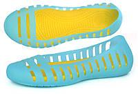 Балетки женские кроксы Women's Adrina II Flat голубые