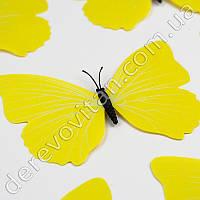 Бабочка декоративная, желтая, 9×12 см, 10 шт.