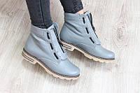 Ботинки весенние серые в стиле Balmain