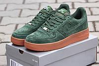 Мужские кроссовки Nike Air Force зеленые 2834