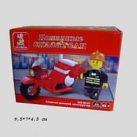 """Конструктор SLUBAN M38-B0327R(360шт) """"Пожарные спасатели""""25 дет,в собр.кор.9,5*7*4,5 см"""