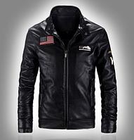 Мужская кожаная куртка. Модель 6169