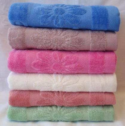 Красивые банные полотенца . Размер: 1,4 x 0,7