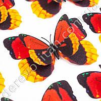 3D-бабочки декоративные, красно-желтые, 10×12 см, 10 шт.