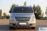 Защита переднего бампера (кенгурятник)  Hyundai H1 (07+)