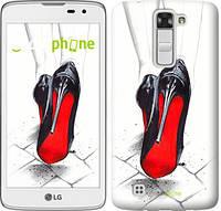 "Чехол на LG K8 K350E Devil Wears Louboutin ""2834c-297"""