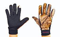 Перчатки теплые для рыбалки флисовые 4920: размер L-XL, камуфляж Realtree