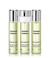 Женская оригинальная туалетная вода Chanel Chance Eau Fraiche 3x20ml EDT (сменный блок)