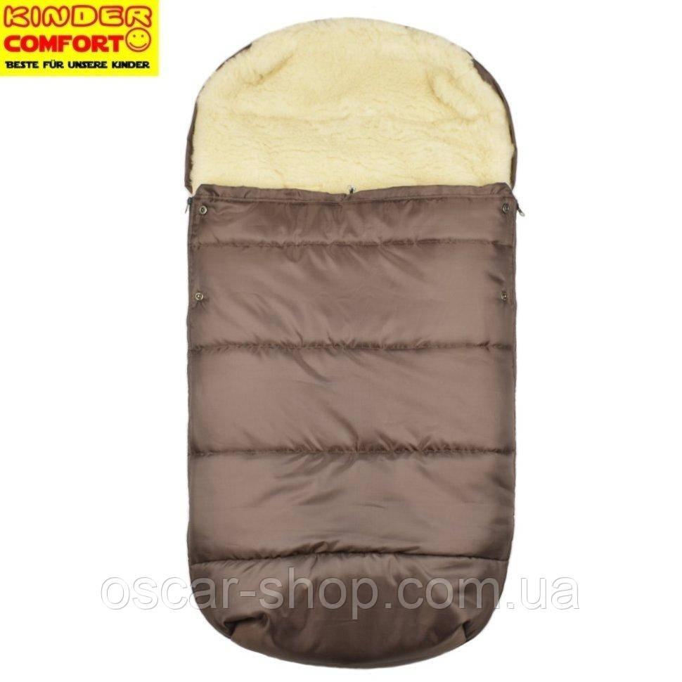 Конверт на овчине Kinder Comfort Drive, коричневый