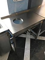 Стол с отверстием для сбора отходов 800/500/850 мм