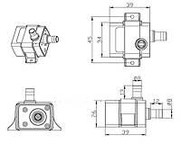 Насос ТРИ МЕТРА (подъем воды) PH-300 240 l\h 4,2 W 12V блок питания в комплекте