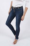 Темно-синие классические джинсы зауженные New Sky 7829