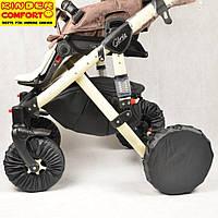 Чехлы на колёса коляски Kinder Comfort, 2 маленьких и 2 больших колеса