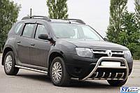 Защита переднего бампера (кенгурятник)  Fiat Fiorino 2008+