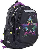 Рюкзак 1 вересня Yes Т-22 Star 553101 черный подростковый три отдела 30х43х15см