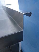 Стол в горячий цех ресторана и кафе без нижней полки 1000/500/850 мм, фото 3