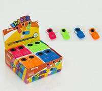 Стирательная резинка 01549 (640) 32шт в блоке, 4 цвета