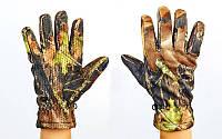 Перчатки спортивные теплые для рыбалки флисовые 301-2: размер M-XL, камуфляж Realtree