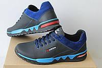 Мужские кроссовки Adidas черно синие