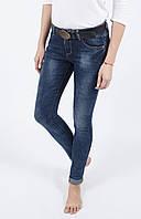 Классические потертые женские джинсы, зауженные Cudi 9891