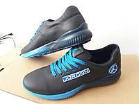Мужские кроссовки Nike Air Jordan черные с синим