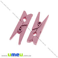 Декоративная прищепка, 26х8 мм, Розовая, 1 шт (DIF-021249)