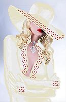 Схема вышивки бисером Девушка блонд (в белом)