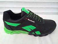 Мужские спортивные кроссовки Reebok черно-салатовые