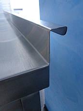 Cтол производственный  из нержавеющей стали с 2-мя полками 1400/600/850 мм, фото 3