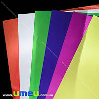 Картон металлизированный TIKI, А4, 6 цветов, 6 листов, 250 г/м2, 1 набор (DIF-021692)