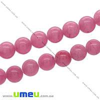 Бусина натуральный камень Мрамор розовый, 8 мм, Круглая, 1 шт (BUS-021666)